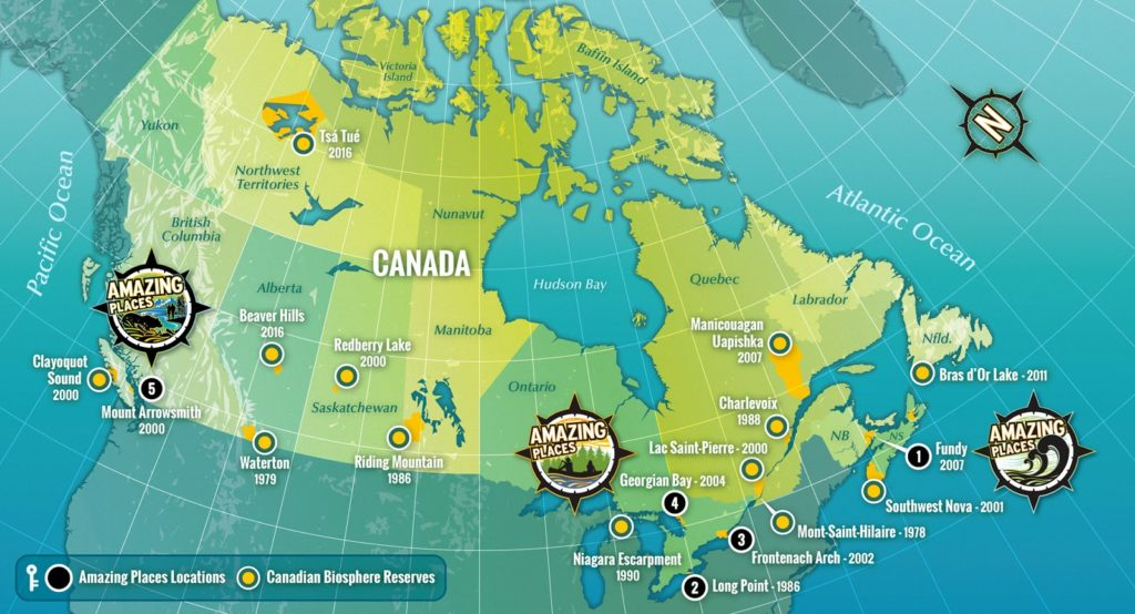 Canada Amazing Places map